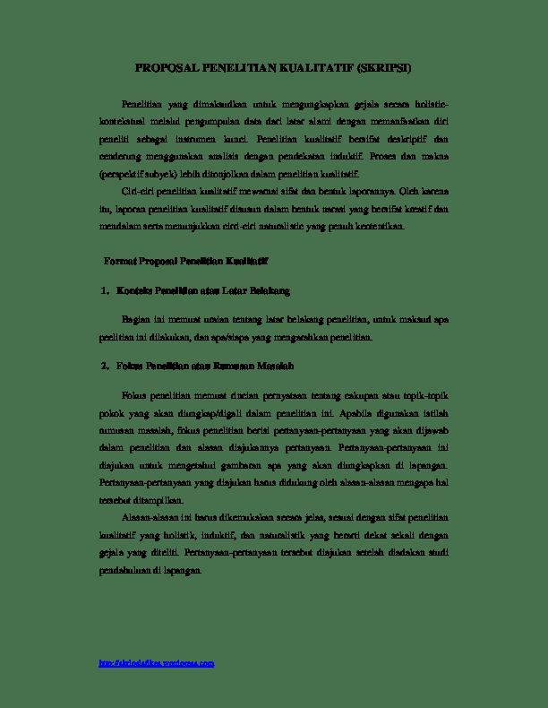 Contoh Fokus Penelitian : contoh, fokus, penelitian, PROPOSAL, PENELITIAN, KUALITATIF, (SKRIPSI, Itsnaini, Academia.edu