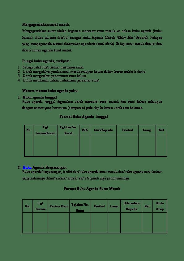 Agenda Surat Masuk : agenda, surat, masuk, Mengagendakan, Surat, Masuk, AHMADI, AL-AZMIE, Academia.edu