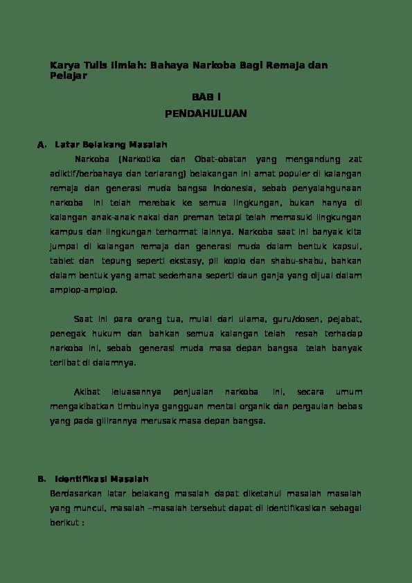 Karya Ilmiah Narkoba : karya, ilmiah, narkoba, Bahaya, Narkoba, Karya, Ilmiah, Ancha, Simple, Academia.edu