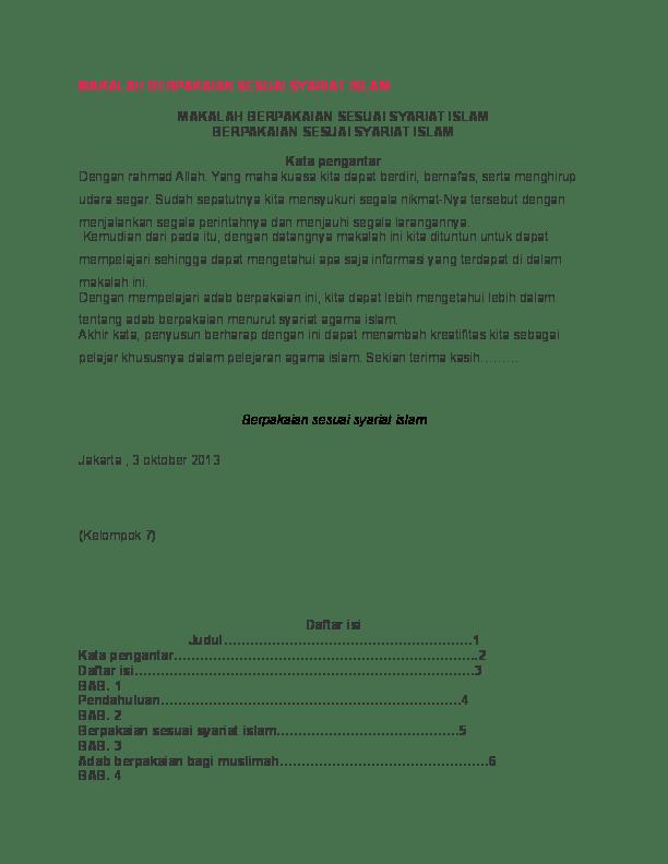 Fungsi Pakaian Menurut Syariat Islam : fungsi, pakaian, menurut, syariat, islam, MAKALAH, BERPAKAIAN, SESUAI, SYARIAT, Syahadatan, Academia.edu