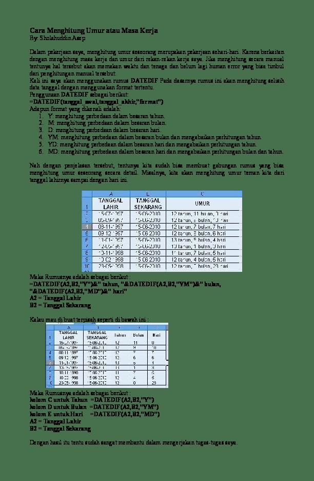 Rumus Menghitung Umur Siswa : rumus, menghitung, siswa, Mengerjakan, Selisih, IlmuSosial.id