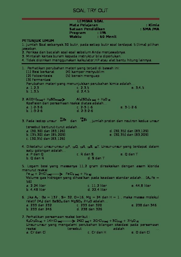Soal Kimia Kelas 12 : kimia, kelas, Kimia, Kelas, (INTELEC), Ikhfa, Hakiki, Academia.edu