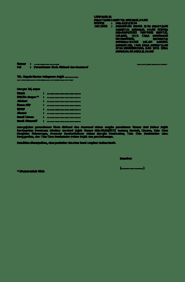 Surat Pembatalan Faktur Pajak : surat, pembatalan, faktur, pajak, Surat, Keterangan, Pembatalan, Faktur, Pajak