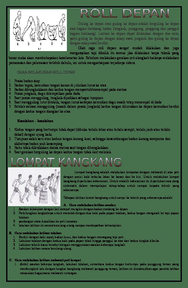 Jelaskan Cara Melakukan Latihan Loncat Kangkang : jelaskan, melakukan, latihan, loncat, kangkang, Guling, Depan, Adalah, Berguling, Bagian, Belakang, Badan, Hendro, Academia.edu