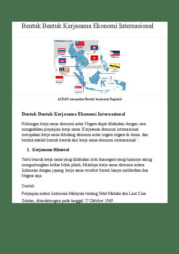 Contoh Bentuk Kerja Sama : contoh, bentuk, kerja, Bentuk, Kerjasama, Ekonomi, Internasional, Ajeng, Syifaulia, Ramadhanti, Academia.edu