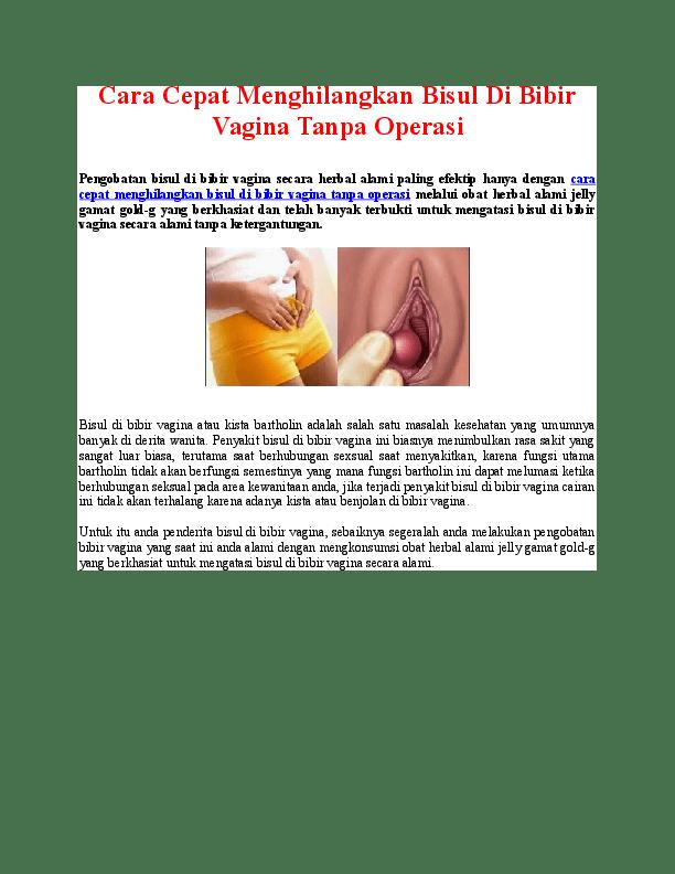 Bisul di Vagina, Ini Penyebab dan Cara Mengatasinya