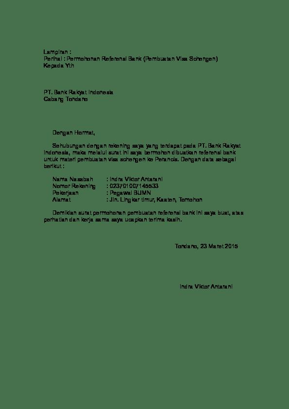 Surat Referensi Bank Untuk Visa Schengen : surat, referensi, untuk, schengen, Contoh, Surat, Permohonan, Referensi, Untuk, Korea, Dapatkan, Cute766