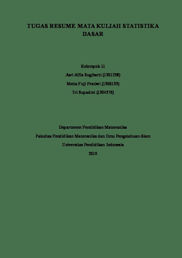 Makalah Statistik Non Parametrik : makalah, statistik, parametrik, Statistika, Parametrik, Alfia, Sugiharti, Academia.edu