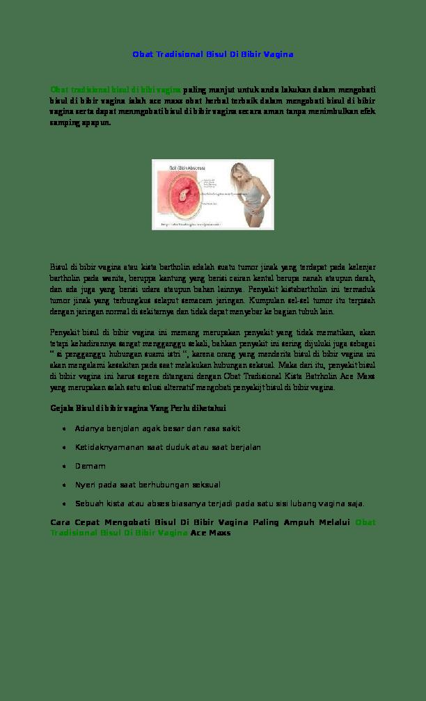 Cara Mengobati Bisul Di Kemaluan Wanita Secara Alami : mengobati, bisul, kemaluan, wanita, secara, alami, Tradisional, Bisul, Bibir, Vagina, PENGOBATAN, ALAMI, Academia.edu