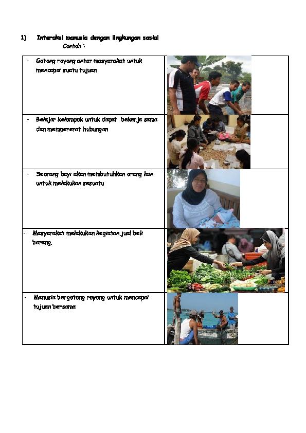 10 Contoh Interaksi Manusia Dengan Lingkungan Alam Dan Sosial : contoh, interaksi, manusia, dengan, lingkungan, sosial, Contoh, Interaksi, Sosial, Lingkungan, Sekitar, Cute766
