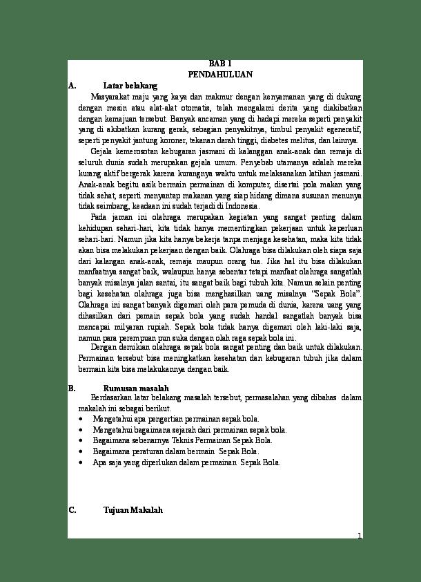 Rangkuman Materi Sepak Bola : rangkuman, materi, sepak, Makalah, Sepak, RAISA, NADYA, Barabai, Academia.edu