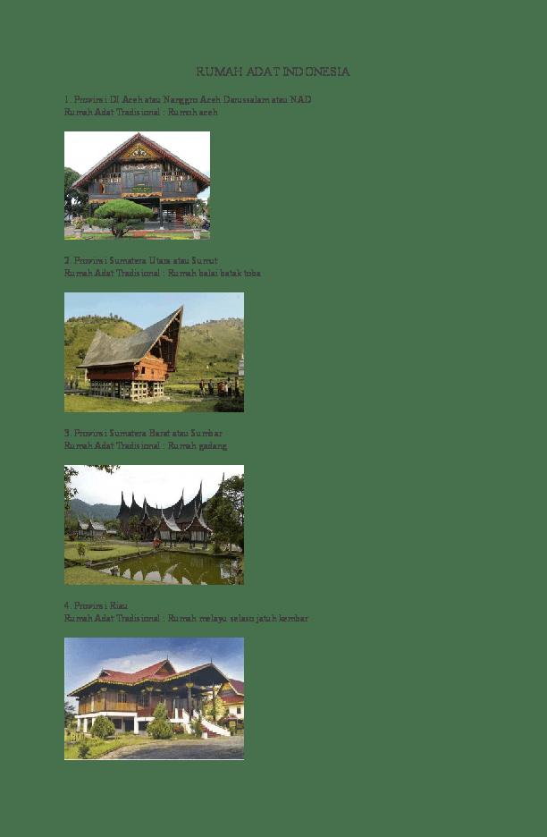 100 Gambar Rumah Adat Dan Baju Adat Gratis Terbaru