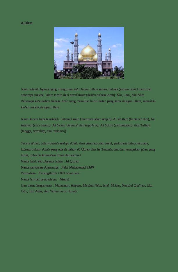 Hari Raya Agama Islam : agama, islam, Sebutkan, Besar, Agama, Indonesia