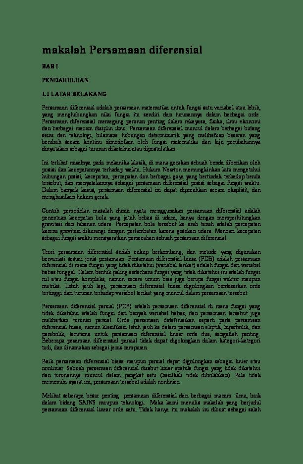 Makalah Persamaan Diferensial Orde 2 : makalah, persamaan, diferensial, Makalah, Persamaan, Diferensial, Husain, Ramadan, Academia.edu