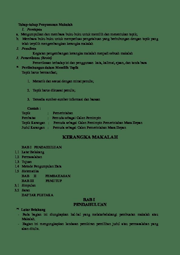 Contoh Kerangka Ilmiah : contoh, kerangka, ilmiah, Karya, Ilmiah, Ziadatul, Khikmah, Academia.edu