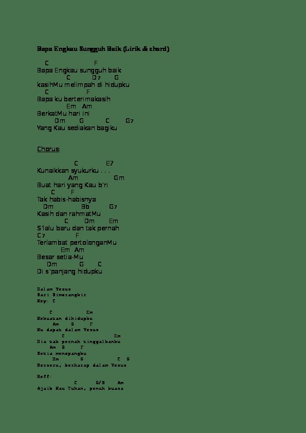 Lirik Yesus Kau Sungguh Baik : lirik, yesus, sungguh, Chord, Engkau, Sungguh