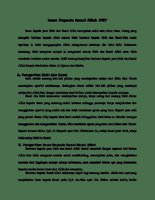 Pengertian Iman Kepada Rasul Allah : pengertian, kepada, rasul, allah, Kepada, Rasul, Allah, Winoto, Academia.edu