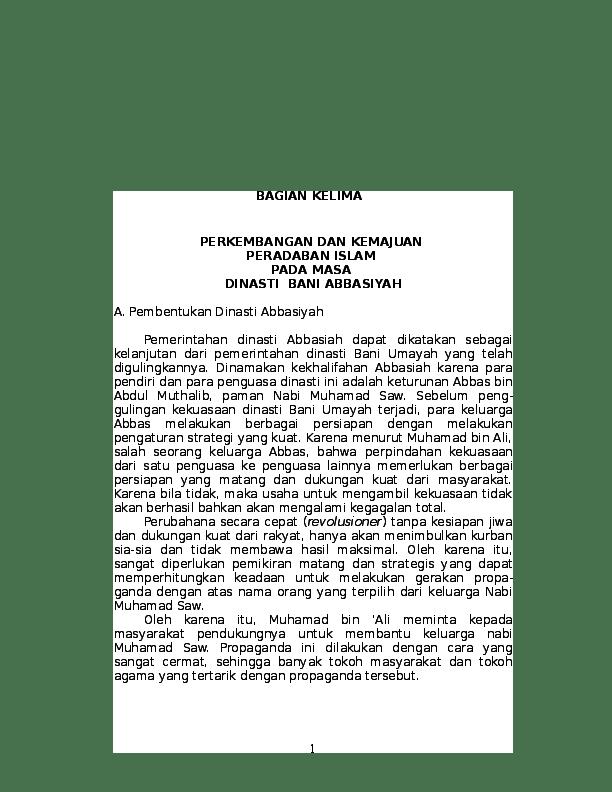 Kemajuan Bani Abbasiyah : kemajuan, abbasiyah, Perkembangan, Islam, Dinasti, Abbasiyah, Murodi, Al-Batawi, Academia.edu