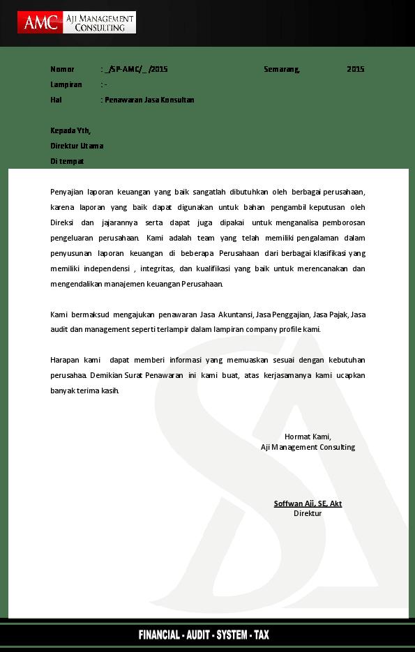 Pdf Surat Penawaran Konsultan Reza Syafii Academia Edu