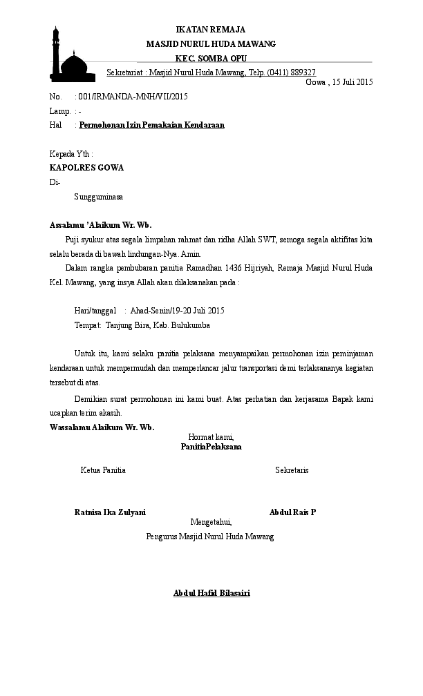 Surat Permohonan Peminjaman Alat [d2nvvzvymonk]
