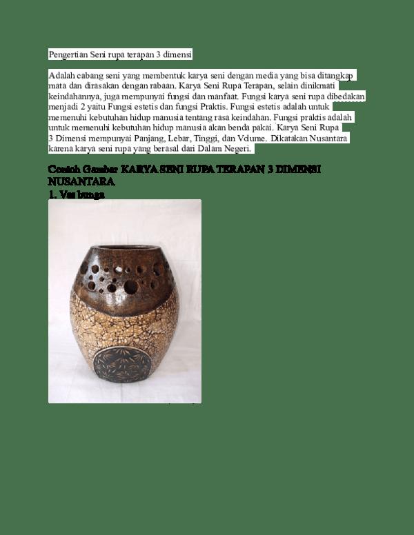 Contoh Karya Seni Rupa 3 Dimensi : contoh, karya, dimensi, Pengertian, Dimensi, Muhammad, Randy, Academia.edu