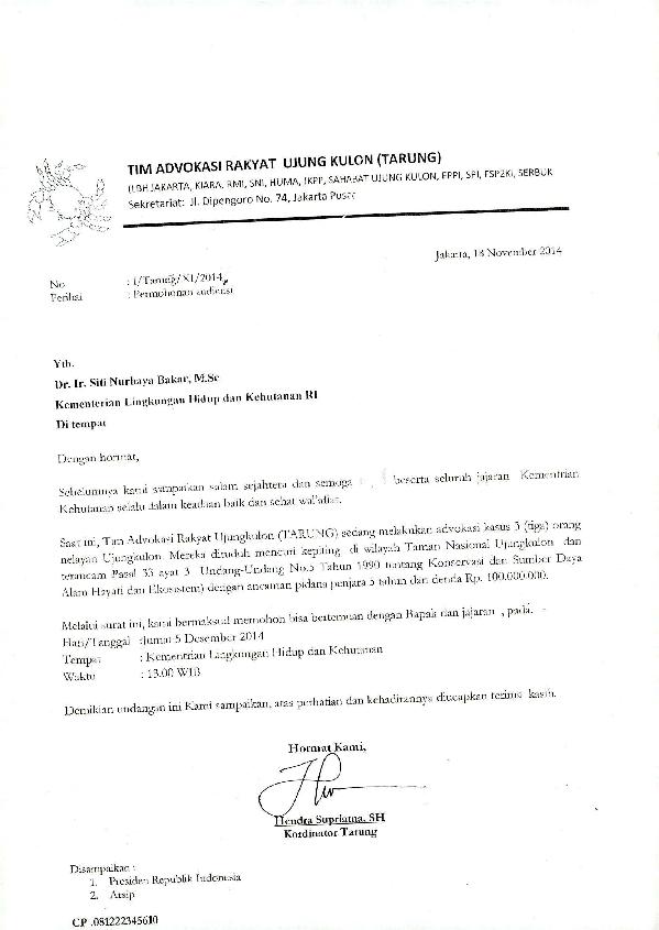 Pdf Surat Permohonan Audiensi Kementerian Lingkungan