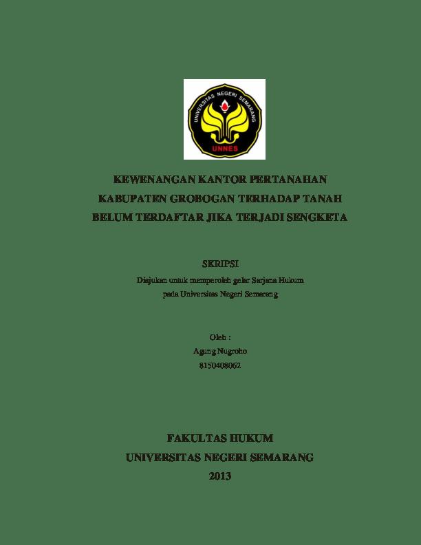 Skripsi Hukum Perdata Tentang Tanah Ide Judul Skripsi Universitas Cute766