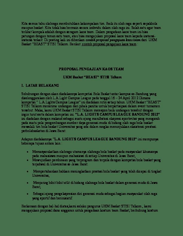 Contoh Proposal Sepak Bola : contoh, proposal, sepak, Contoh, Proposal, Kegiatan, Olahraga, Sepak, Berbagi