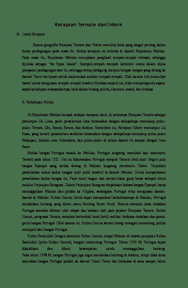 Kehidupan Politik Kerajaan Tidore : kehidupan, politik, kerajaan, tidore, Kerajaan, Ternate, DanTidore, Ahmad, Kamaluddin, Academia.edu