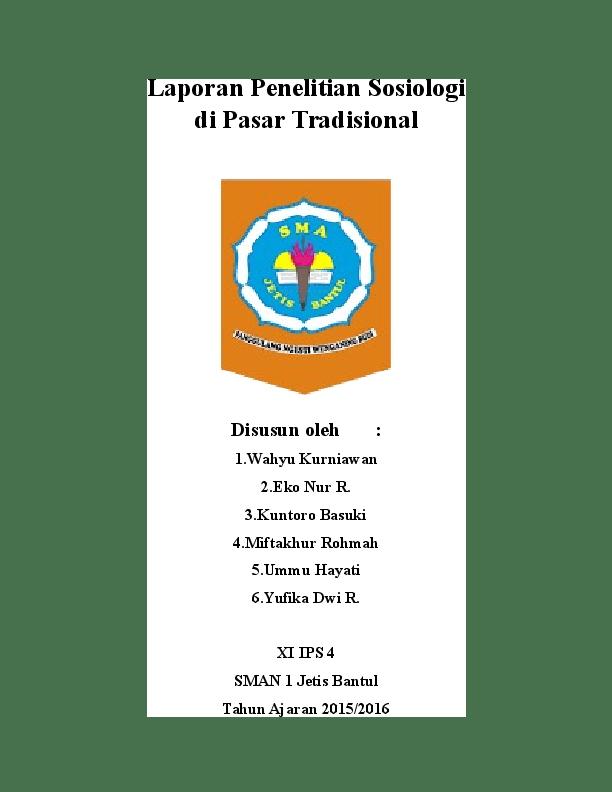 Laporan Penelitian Sosiologi : laporan, penelitian, sosiologi, Penelitian, Sosiologi, Pasar, Tradisional, Academia.edu