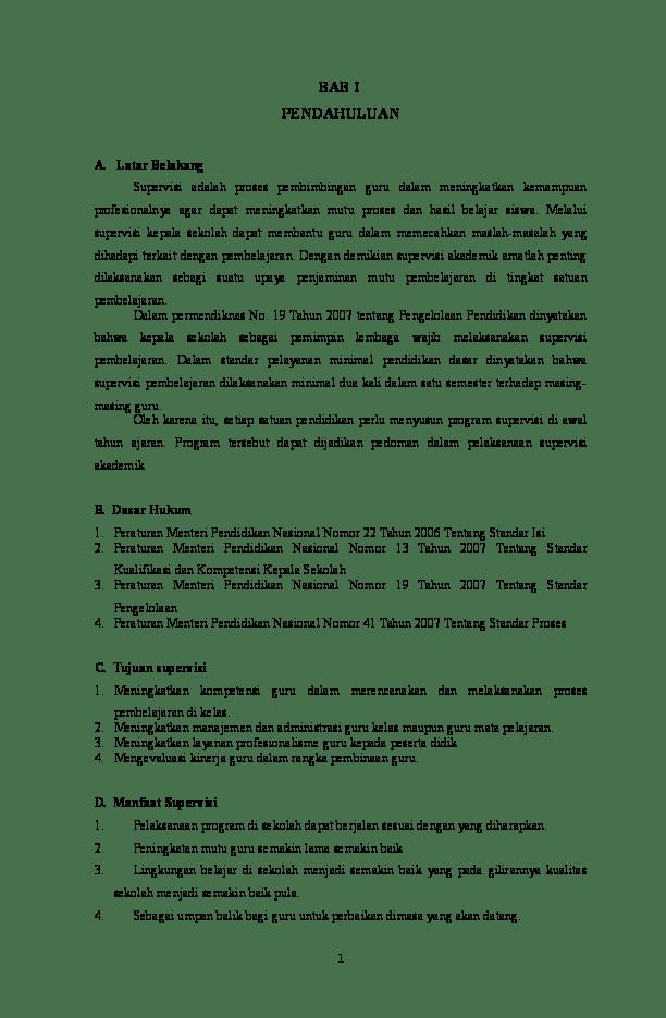 Contoh Laporan Pemantauan Proses Pembelajaran Oleh Kepala Sekolah Kumpulan Contoh Laporan Cute766