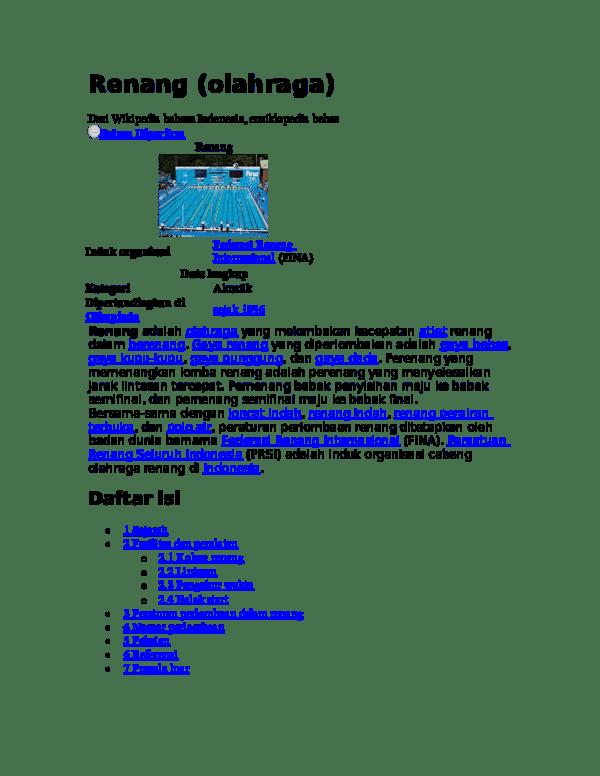 Peraturan Dalam Renang : peraturan, dalam, renang, Renang, Herman, Sampurno, Academia.edu