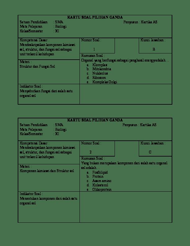 Contoh Kartu Soal : contoh, kartu, KARTU, Kartika, Ariaswara, Academia.edu
