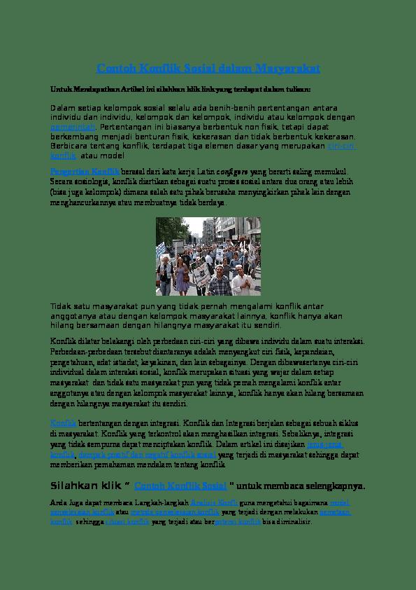Contoh Konflik Sosial Di Indonesia, Pengertian, Landasan, Faktor