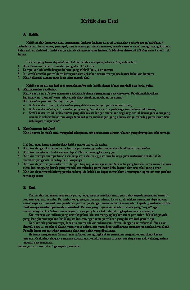 Contoh Esai Kritik Sosial : contoh, kritik, sosial, Contoh, Kritik, Essay, Sketsa