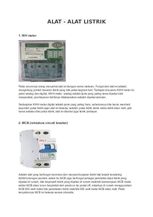 Alat Alat Kelistrikan Dan Fungsinya : kelistrikan, fungsinya, Alat-alat, Listrik, Donny, Academia.edu