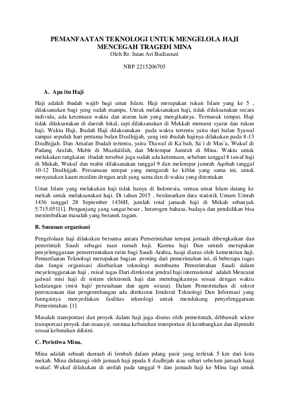 Wukuf Dilaksanakan Pada Tanggal : wukuf, dilaksanakan, tanggal, TIK-untuk-Haji-2215206705-Intan, Intan, Budiastuti, Academia.edu