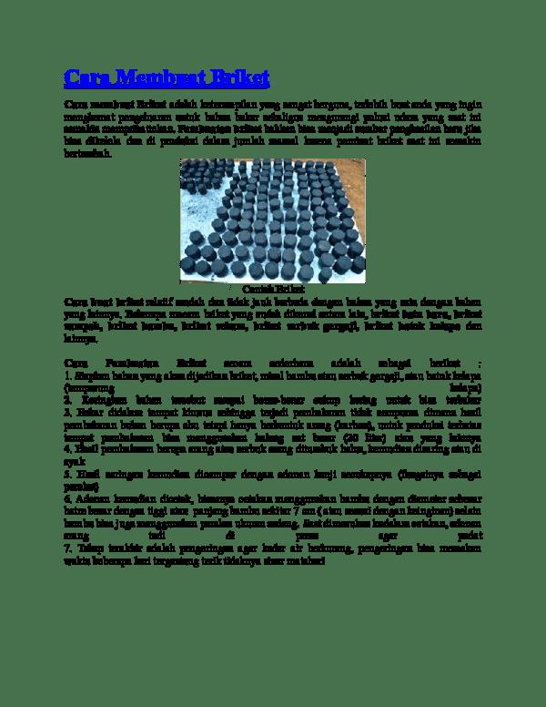 Cara Membuat Briket : membuat, briket, Membuat, Briket, Academia.edu