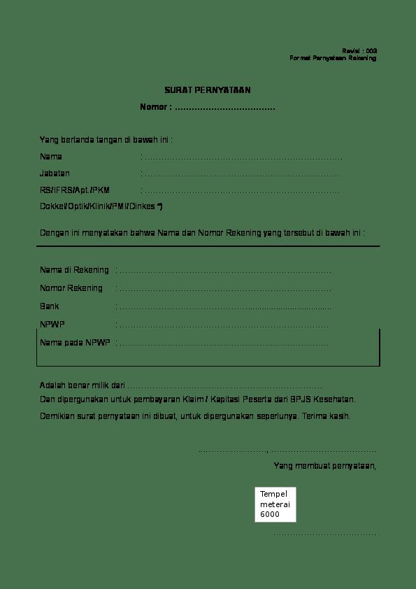 Contoh Surat Keterangan Rekening Aktif Dari Bank : contoh, surat, keterangan, rekening, aktif, Contoh, Surat, Keterangan, Rekening