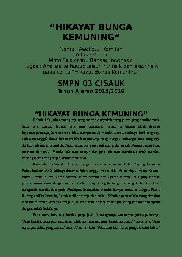 Unsur Ekstrinsik Hikayat : unsur, ekstrinsik, hikayat, UNSUR, INTRINSIK, EKSTRINSIK, CERITA, RAKYAT, Bambang, Sudarisman, Academia.edu