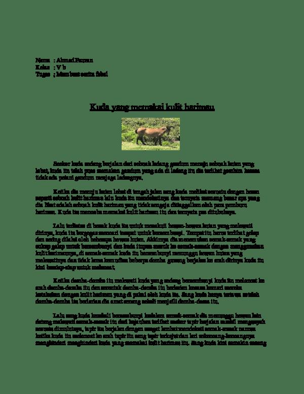 Contoh Cerita Fabel : contoh, cerita, fabel, Kumpulan, Cerita, Hewan, Fabel, Maemunah, Adelia, Academia.edu