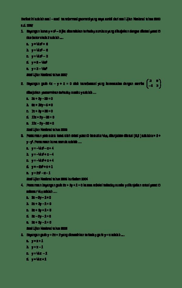 Contoh Soal Transformasi Geometri Rotasi : contoh, transformasi, geometri, rotasi, Contoh, Pembahasan, Transformasi, Geometri, Rotasi, Dapatkan
