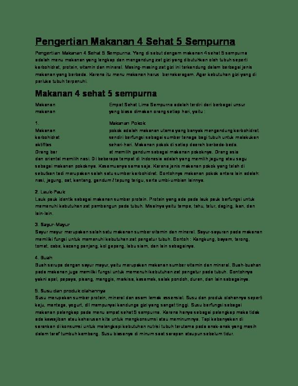 Manfaat Unsur Unsur Makanan : manfaat, unsur, makanan, Pengertian, Makanan, Sehat, Sempurna, Ulfanuri, Muharromi, Academia.edu