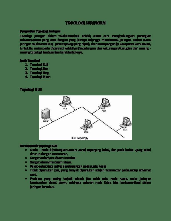 Keuntungan dan Kerugian Topologi | Nadyaluthfiana's Blog
