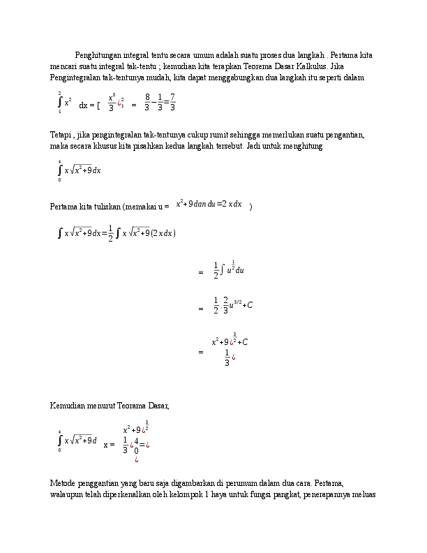 379.6kb pdf document uploaded 4/12/20, 11:37. Doc Matematika Integral Reza Hermawan Academia Edu