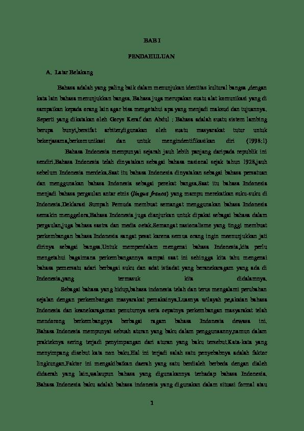 Latar Belakang Bahasa Indonesia : latar, belakang, bahasa, indonesia, Latar, Belakang, Bahasa, Utari, Academia.edu