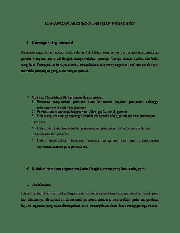 Pengertian Teks Argumentasi : pengertian, argumentasi, Karangan, Argumentasi, Persuasi, Melani, Academia.edu