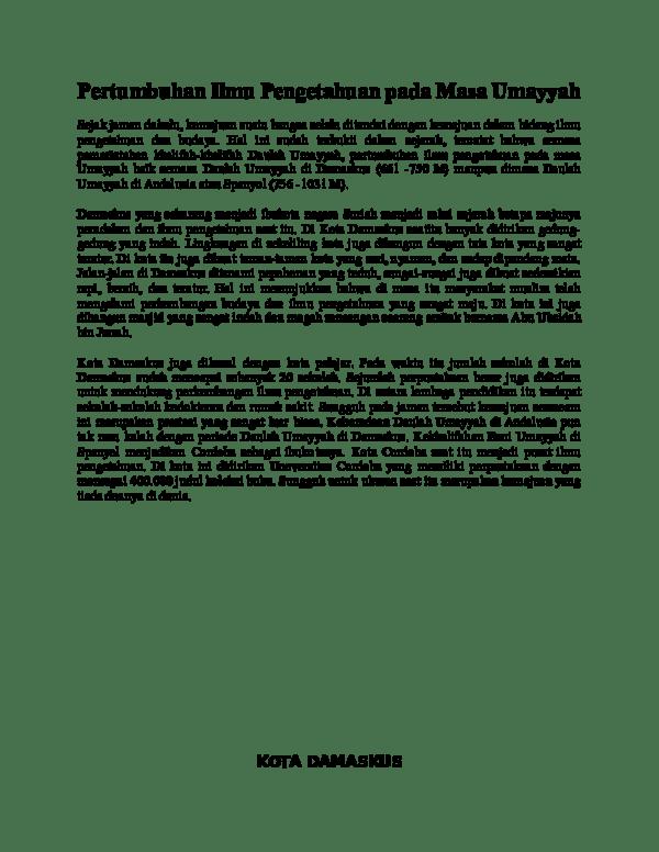Perkembangan Ilmu Pengetahuan Pada Masa Bani Umayyah : perkembangan, pengetahuan, umayyah, Pertumbuhan, Pengetahuan, Umayyah, Sejak, Jaman, Dahulu, Laila, Academia.edu