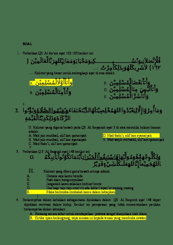 Tajwid Al Baqarah 148 : tajwid, baqarah, Hukum, Bacaan, Surat, Baqarah