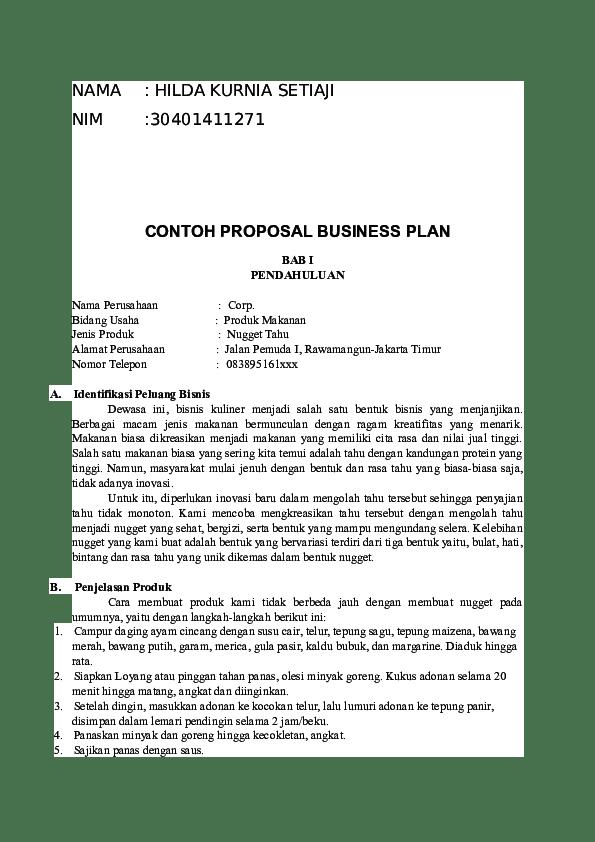 Contoh Business Plan Cute766